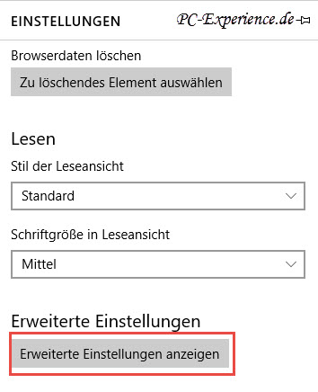 einstellung adobe flash player
