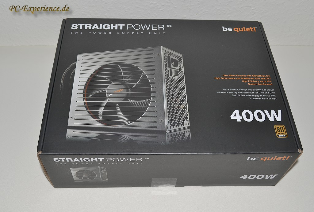 PC-Experience Reviews:   be quiet! Straight Power E8 400W Netzteil