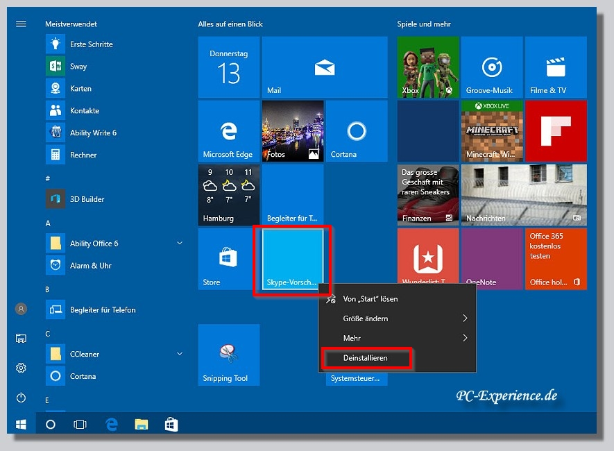 Windows 10 Apps Übersicht