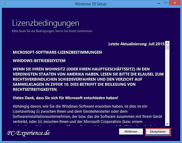 Windows 10 Upgrade mit Medium 3