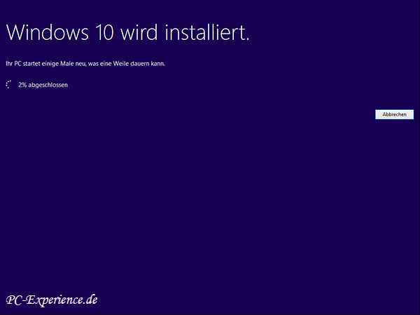 Windows 10 Upgrade mit Medium 8