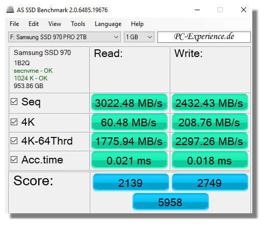 AS SSD Test 2